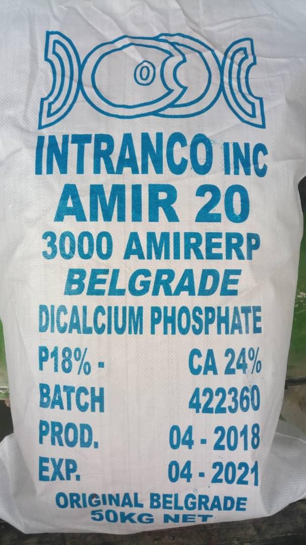 DiCalcium Phosphate DCP – Feed Grade (50kg)